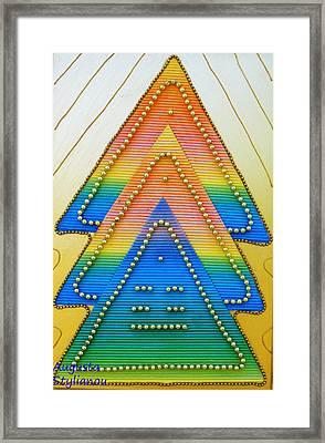 Spectrum Trees Framed Print