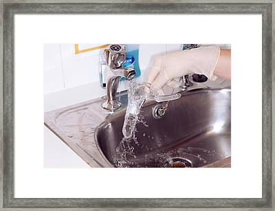 Speculum For Cervical Smear Framed Print by Dr P. Marazzi/science Photo Library