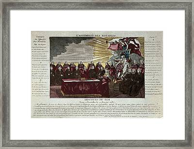 Speech Of Louis Xvi To The Assembly Framed Print