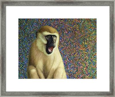 Speechless Framed Print by James W Johnson