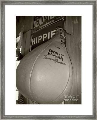 Speed Bag Boxing Framed Print by Susan Carella