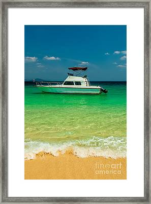 Speed Boat Framed Print by Adrian Evans