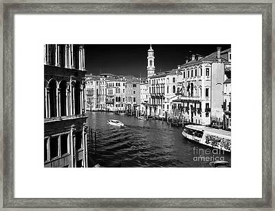 Speed Boat On The Grand Canal Framed Print