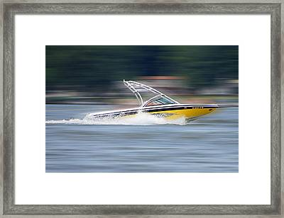 Speed Boat Framed Print by Thomas Fouch