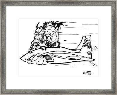 Speed Demon Framed Print by Big Mike Roate