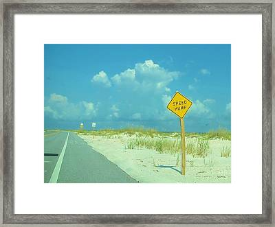 Speed Hump Framed Print
