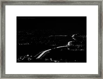 Speed Of Light Framed Print by Joey  Maganini
