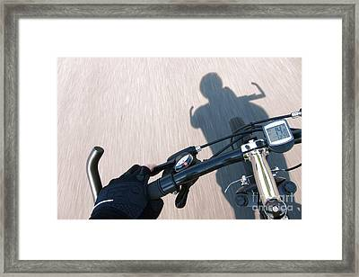 Speed Framed Print by Olivier Le Queinec