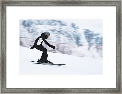 Speed On Snow Framed Print by Vlad Baciu
