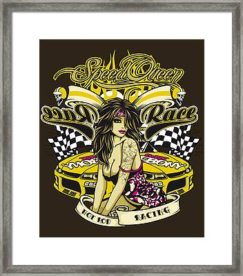 Speed Queen Framed Print by Fatline