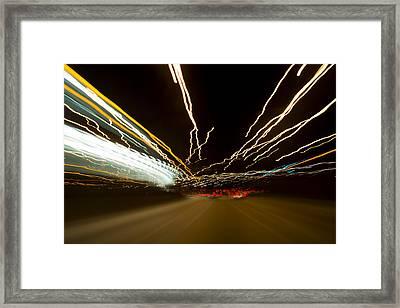 Speed Framed Print by Sebastian Musial