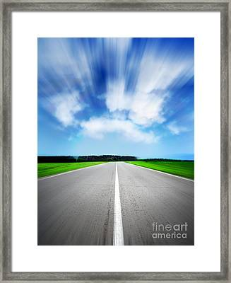 Speed Sky Framed Print by Boon Mee