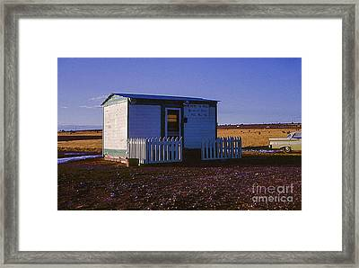 Speed Trap Court House In New Mexico Next To Route 66. In 1966. Framed Print by Robert Birkenes