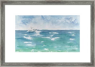 Speeding Across The Sea Framed Print by Pat Katz