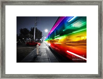 Speeding Bus Blurred Motion Framed Print by Konstantin Sutyagin