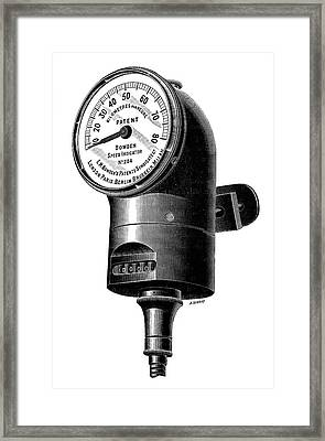 Speedometer Framed Print by Science Photo Library