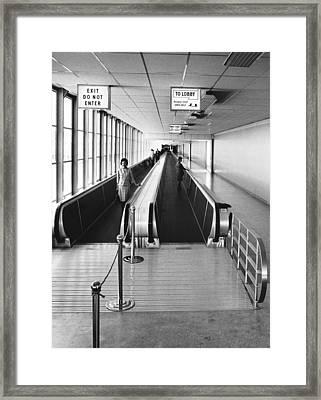 Speedwalk Conveyors At Sfo Framed Print