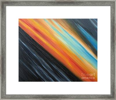 Speedy Sunset Framed Print by Tiffany Davis-Rustam