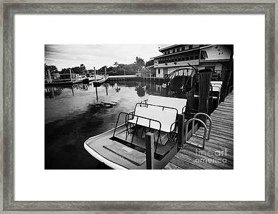 Speedys Airboat Rides In Everglades City Florida Framed Print by Joe Fox