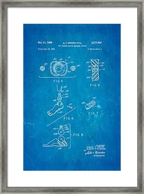 Speers G I Joe Action Man 2 Patent Art 1966 Blueprint Framed Print by Ian Monk
