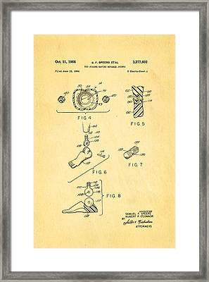 Speers G I Joe Action Man 2 Patent Art 1966 Framed Print by Ian Monk