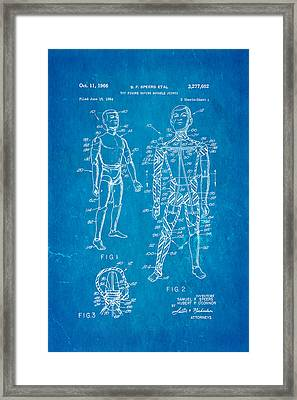 Speers G I Joe Action Man Patent Art 1966 Blueprint Framed Print by Ian Monk