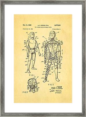 Speers G I Joe Action Man Patent Art 1966 Framed Print by Ian Monk