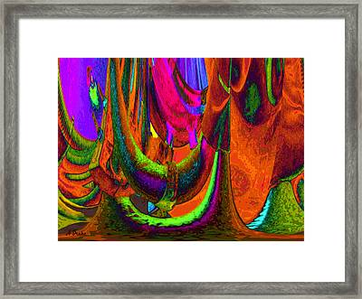 Spelunking On Venus Framed Print by Alec Drake