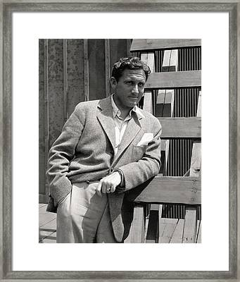 Spencer Tracy Wearing A Tweed Sports Jacket Framed Print