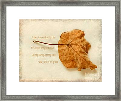 Spent Framed Print by Linde Townsend