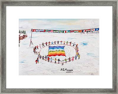 Speranza Di Pace Framed Print by Loredana Messina