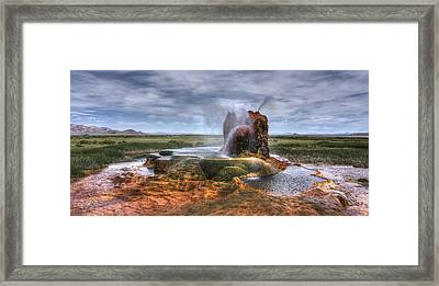 Spewing Minerals At Fly Geyser Framed Print by Peter Thoeny
