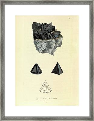 Sphalerite Mineral Framed Print by Royal Institution Of Great Britain