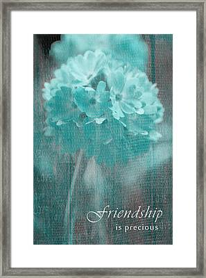 Sphere Floral - Gr13tq - Frienship Framed Print by Variance Collections