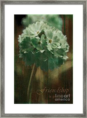 Sphere Floral - Gr83t3xt2 - Frienship Framed Print by Variance Collections