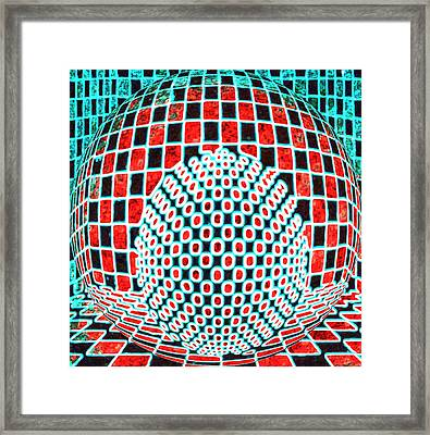 Sphere In A Sphere Framed Print by Twilight Vision