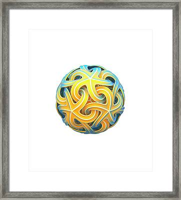 Sphere Of Interlocking Geometries Framed Print