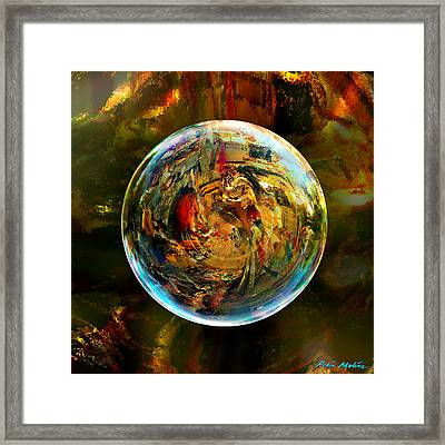 Sphere Of Refractions Framed Print by Robin Moline