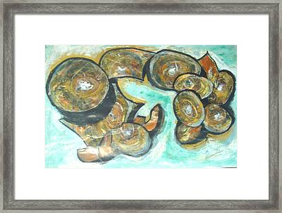 Framed Print featuring the painting Spheres And Kabbalah by Esther Newman-Cohen