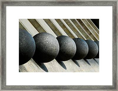 Spheres And Steps Framed Print