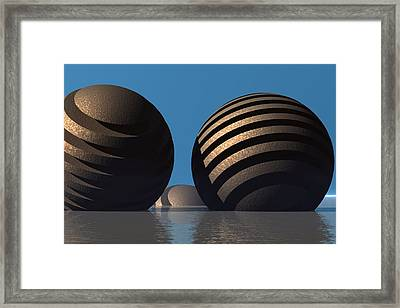 Spheres Framed Print by Lyle Hatch