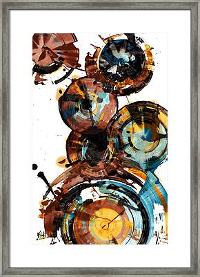 Framed Print featuring the painting Spherical Happiness Series - 993.042212 by Kris Haas