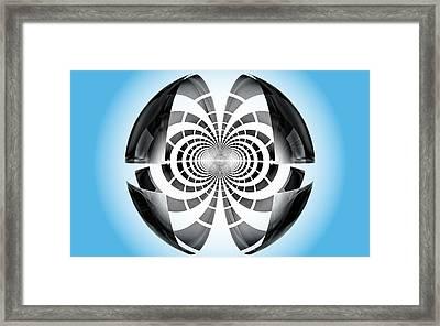 Framed Print featuring the digital art Spheroid by GJ Blackman