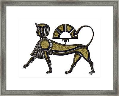 Sphinx - Mythical Creature Of Ancient Egypt Framed Print by Michal Boubin
