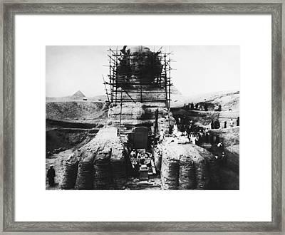Sphinx Scaffolding, Early 20th Century Framed Print