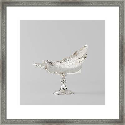 Spice Box In The Shape Of The Ship Mauritius Framed Print by Quint Lox
