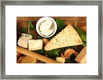 Spice Cheese Plate Framed Print
