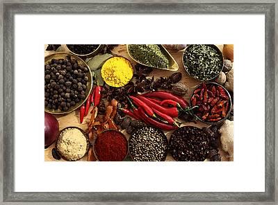 Spice Framed Print by Cole Black