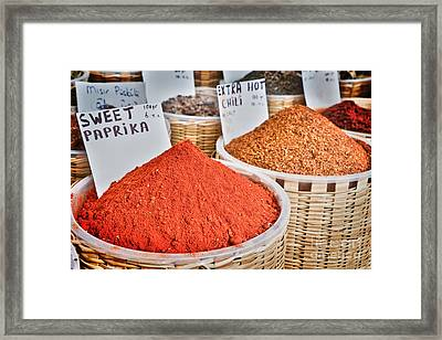 Spice Market Framed Print by Delphimages Photo Creations