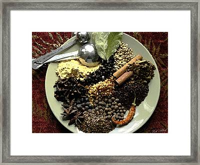Spice Of Life Framed Print by Cole Black